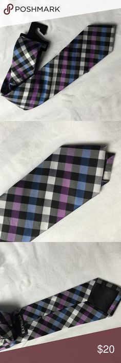 Express Men's Purple and Blue Check Tie Really nice plaid checked tie! Never used. Express Accessories Ties