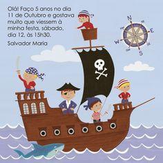 My happy kids : O convite da Festa dos Piratas