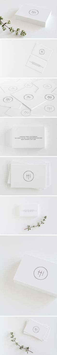 I like the look of a fresh minimal initial logo, that i can easily design onto artworks &display stands I would do my initials as a logo and then fill in my information on the back.