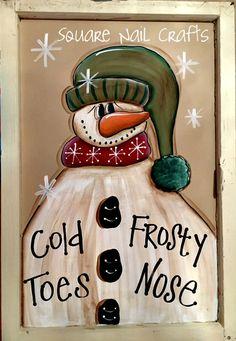 Christmas Wood, Christmas Signs, Christmas Snowman, Christmas Projects, Winter Christmas, Christmas Time, Christmas Decorations, Snowmen Paintings, Christmas Paintings