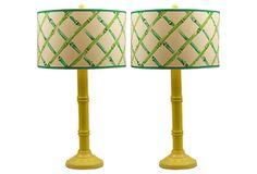 Bamboo Lamps, Pair on OneKingsLane.com