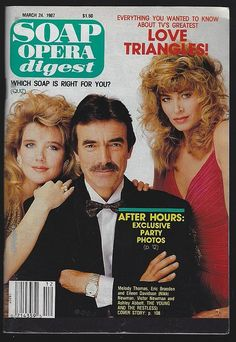 Specializing in rare books, out-of-print books, used books, secondhand books, and other hard-to-find books. Soap Opera Stars, Soap Stars, Guy Williams Actor, Eileen Davidson, Eric Braeden, Cool Magazine, Magazine Covers, Tv Soap, Photo P