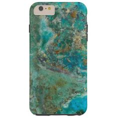 Case-Mate protective phone cover for the Apple iPhone 6 Plus that features a photo image of the beautiful, turquoise blue colors of Chrysocolla mineral stone. Customize your case style.