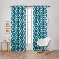 Exclusive Home Durango Printed Geometric Grommet Top Curtain Panel Pair   from hayneedle.com