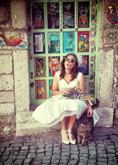 Kiss you! @Alaçatı-İzmir / Turkey vintage wedding, wedding dress