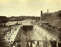 The opening of Somerset graving dock, Malta 1871