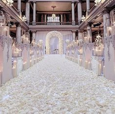 """Wedding Dream on Instagram: """"Calling out all floral lovers: this setup definitely got us swooning and sighing for its dreamy look! We have always love a white wedding, especially when it comes to lush floral aisle and candles arrangement that truly transform the place into one heavenly place! Who wants to walk down the aisle with this setup? Leave us some comments! Wedding setup @winkdesignandevents"""""""