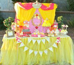 PRINCESS BIRTHDAY Party- Princess FOOD LABEL- Crown Party - Yellow Princess Party