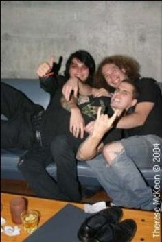 M Shadows with Gerard Way and Ray Toro of My Chemical Romance.