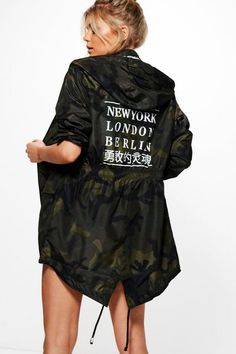Find the best deals for your next Hooded Fishtail Mac With Cities Print - camo in camo at Label Therapy. Shop the best fashion price comparison site to find more sales from boohoo