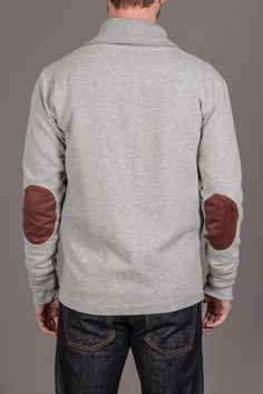 Cotton Sweater w/ Elbow Patch