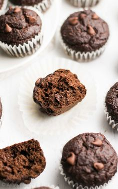 The Ultimate Healthy Chocolate Mini Muffins