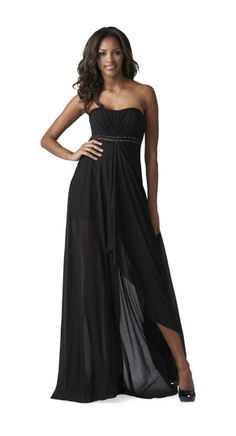 Strapless Gown with Beaded Waist by Aidan Mattox