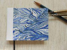 blue, grey, cream paste paper