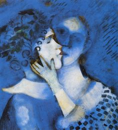 Blue Lovers by Marc Chagall 1914  While traveling, get what's valuable out of the house. BlueVault storage customers get free use of one of our largest units for two weeks every year. http://www.bluevaultsecure.com/specials.php
