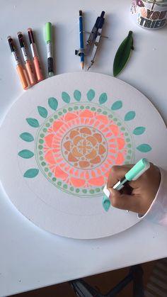 Mandala Doodle, Mandala Drawing, Mandala Art, Art Drawings Beautiful, Art Drawings Sketches Simple, Diy Crafts For Girls, Diy Arts And Crafts, Pretty Art, Cute Art