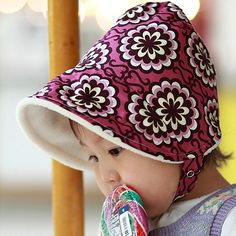 sugar plum winter baby bonnet