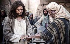 Jesús curando de la lepra a un hombre