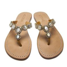 40b65c09a Mystique Gold   Mother Of Pearl flat sandals. These gorgeous sandals are  something you should buy.