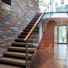 Modern Staircase by Martine Paquin Design