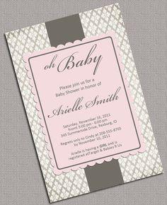 DIY Baby Girl Shower Invitations Printable