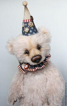 Купить Медвежонок Монти. - бежевый, медведь, медвежонок, медведь тедди, игрушка, ручная работа, цирк