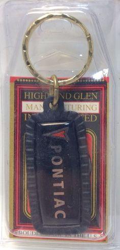 US Car Maker Logo Keychain~ PONTIAC ~ Ancien Porte-Cle Neuf ~ USA Product ~ NOS