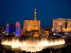 #DreamVacation -- #LasVegas vacations are hotter than ever. Popular shows and hotels, like Aria, make the famed Vegas strip the place to get your party on. Packages are the best deals, pairing hotels like Paris and Tropicana with your favorite things to do. The city of sin's never been so in.