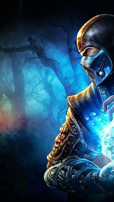 Mortal Kombat Sub-Zero iPhone 5s wallpaper
