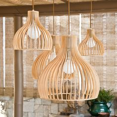 [New] The Best Home Decor (with Pictures) These are the 10 best home decor today. According to home decor experts, the 10 all-time best home decor. Diy Kitchen Lighting, Rustic Pendant Lighting, Wood Chandelier, Wood Lamps, Farmhouse Lighting, Bamboo Light, Light In, Lamp Light, Luminaire Design