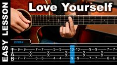 How To play Love Yourself Justin Bieber Guitar Lesson tabs ( Tutorial ) ...