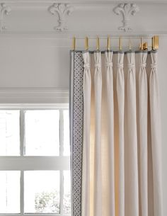 Bedroom curtains with blinds drapery hardware 70 Ideas Design Studio, Home Design, Window Coverings, Window Treatments, Bedroom Curtains With Blinds, Drapery Designs, Drapery Ideas, Drapery Styles, Parisienne Chic