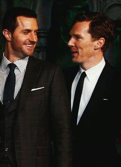 Richard and Benedict at the BOTFA premiere