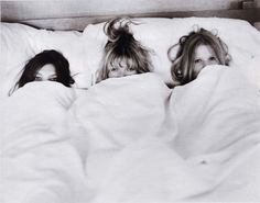This would be a cute bride/bridesmaids photo from the morning of the wedding :)