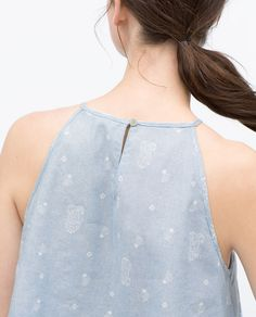 Image 6 of PRINTED HALTER NECK TOP from Zara