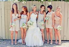 Mix Matched Bridesmaid Dresses this is so the color i want my bridesmaids to wear