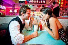 "Love the diner!  10 Unique, Simple Props to Make Engagement Shoots ""WOW"" Worthy"