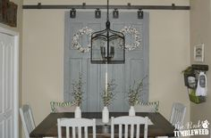 Barn Door Window Treatment