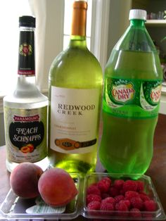Lemon and Lace: white wine sangria with peach