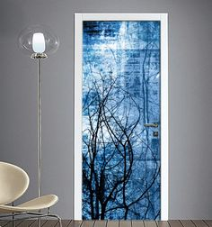 Adesivo #Porta  Astratto #blu Arreda la tua #casa con originalità  https://www.quadriperarredare.it/shop/adesivo-porta-astratta-blu/  pellicole adesive per decorare in modo semplice e fantasioso i tuoi ambienti Guardare il video per sapere Come attaccare gli Adesivi sulle Porte