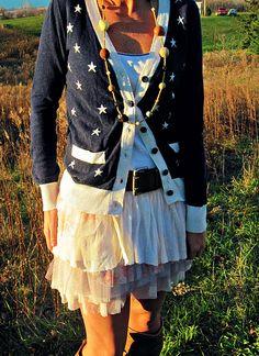 star cardigan ballet skirt