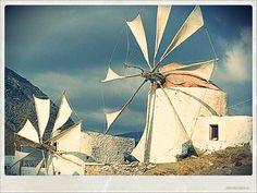 Karpathos island Karpathos, Always On My Mind, Greece Islands, Le Moulin, Windmills, Crete, Wonders Of The World, Sailing Ships, Fields