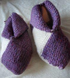 Warme Puschen für kalte Füße http://www.moniswollzauber.de/