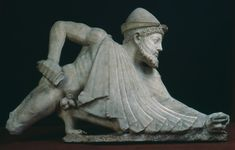 Odysseus, about 25 BC or 125 AD, Roman, in Greek Archaic style of 490 BC, Marble, 65 x 113 cm