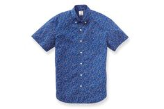 Newport Poplin - Short Sleeve - Blue & Pink Floral