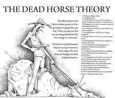 Dead horse theory and Agile « Management Change Management, Business Management, Business Planning, Business Intelligence, Business Plan Template, Leadership Development, Leadership Qualities, Life Lessons, Funny Pictures