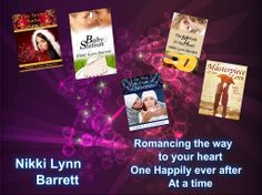 First Author Spotlight showcasing talented author, Nikki Lynn Barrett. Get to know her and her men in the books. www.melenasreviews.com/Spotlight.htm