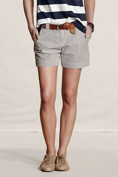 Seersucker Shorts in indigo seersucker stripe.  A summer classic that can be mashed up, dressed up, or down.