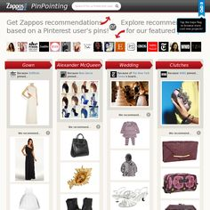 Get Zappos recommendations  based on a Pinterest user's pins!