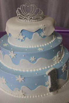 "Photo 21 of Winter Onderland / Birthday ""Snow Princess"" Winter Wonderland Birthday, Winter Birthday, Frozen Birthday Party, Frozen Party, Birthday Parties, Birthday Cakes, Birthday Ideas, Pretty Cakes, Cute Cakes"